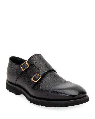 Men's Kensington Double-Monk Dress Loafers