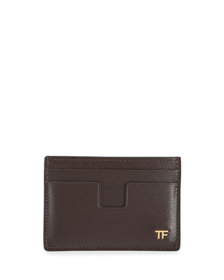 TOM FORD Men's Saffiano Leather Card Case