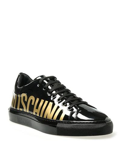 Black Patent Sneaker   Neiman Marcus