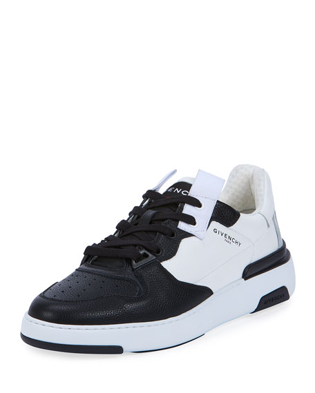 Givenchy Men's Wing Two-Tone Leather Sneakers