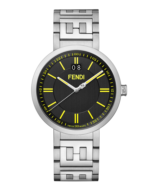 Men's 39mm FF Stainless Steel Bracelet Watch