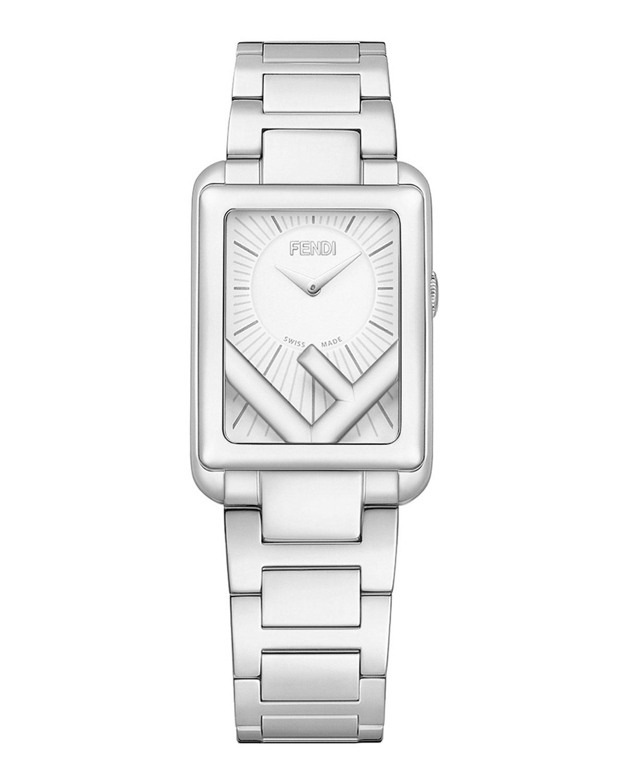 Men's Rectangular Stainless Steel Bracelet Watch