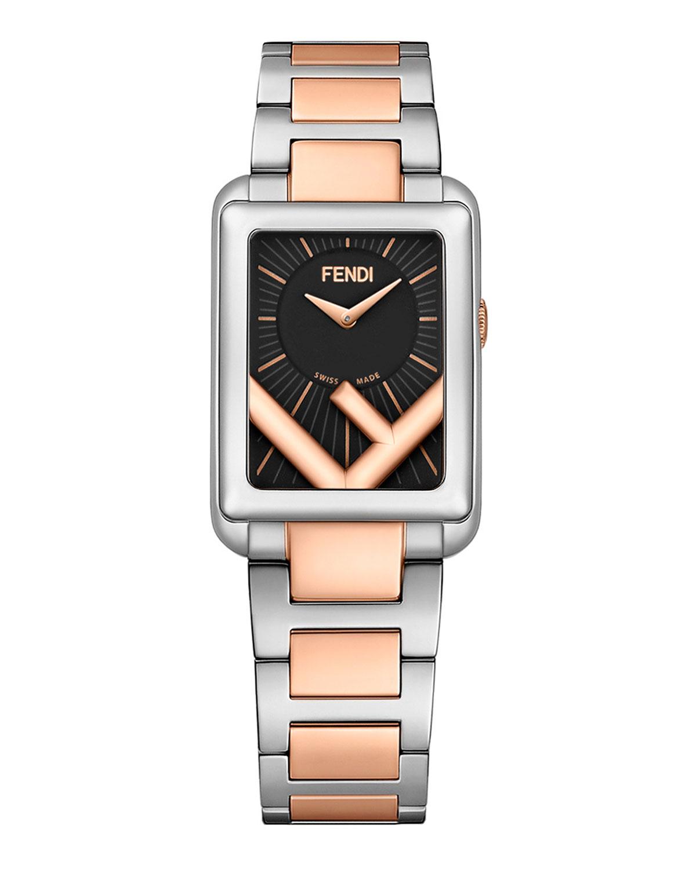 Men's Rectangular Two-Tone Bracelet Watch