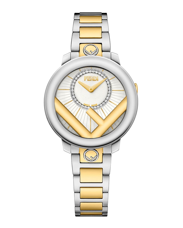 Men's 28mm Two-Tone Bracelet Watch w/ Diamonds