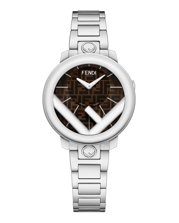 Men's 28mm FF Stainless Steel Bracelet Watch