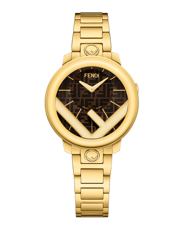 Men's 28mm IP Yellow Gold Bracelet Watch