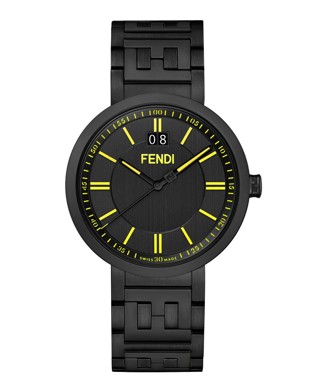 Men's 39mm IP Black Watch w/ FF Bracelet
