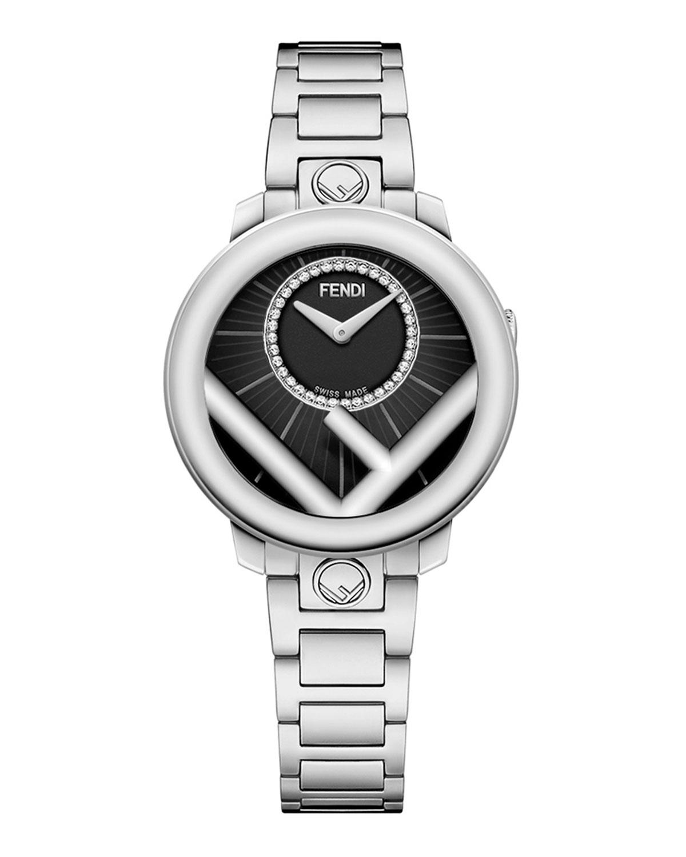 Men's 28mm Stainless Steel Bracelet Watch w/ Diamonds