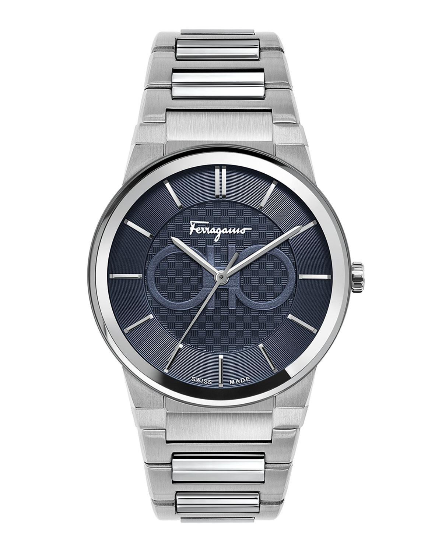 Men's 41mm Stainless Steel Bracelet Watch
