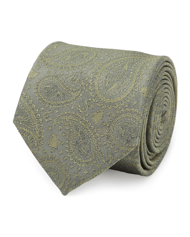 Star Wars Yoda Paisley-Print Silk Tie
