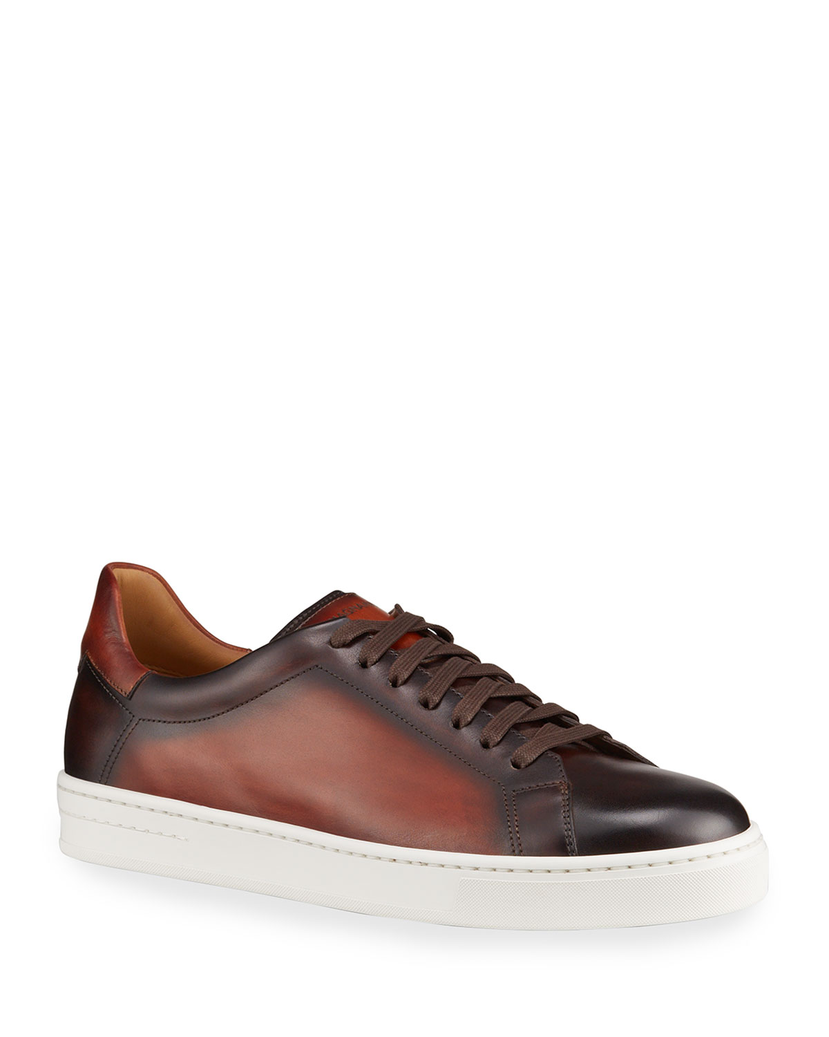 Men's Ottawa Burnished Leather Sneakers