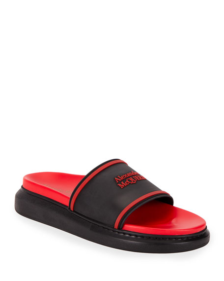 Alexander McQueen Men's Two-Tone Rubber Slide Sandals