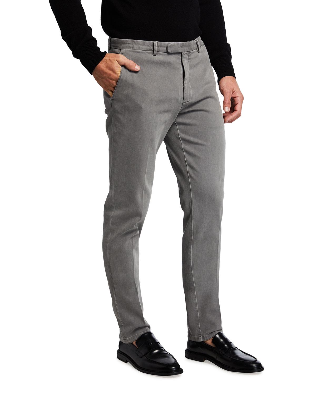 Men's Cotton Twill Stretch Pants