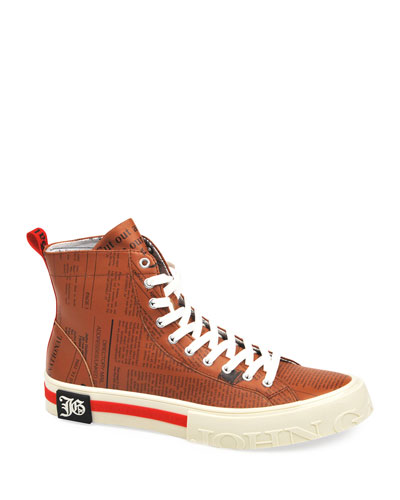 Men's Gazette Leather High-Top Sneakers