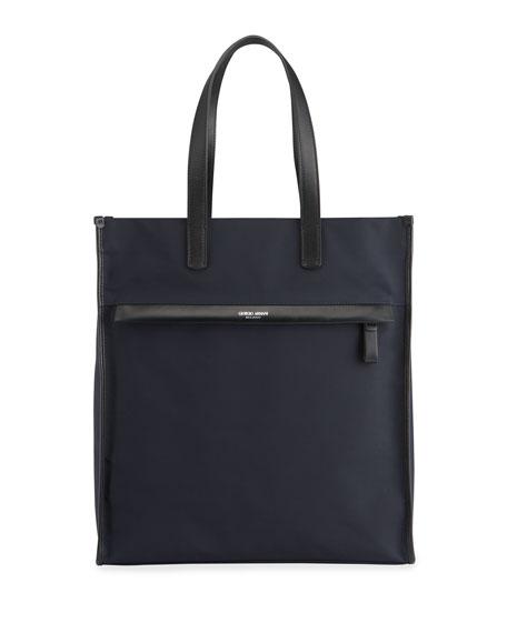 Giorgio Armani Men's Waterproof Nylon/Leather Tote Bag