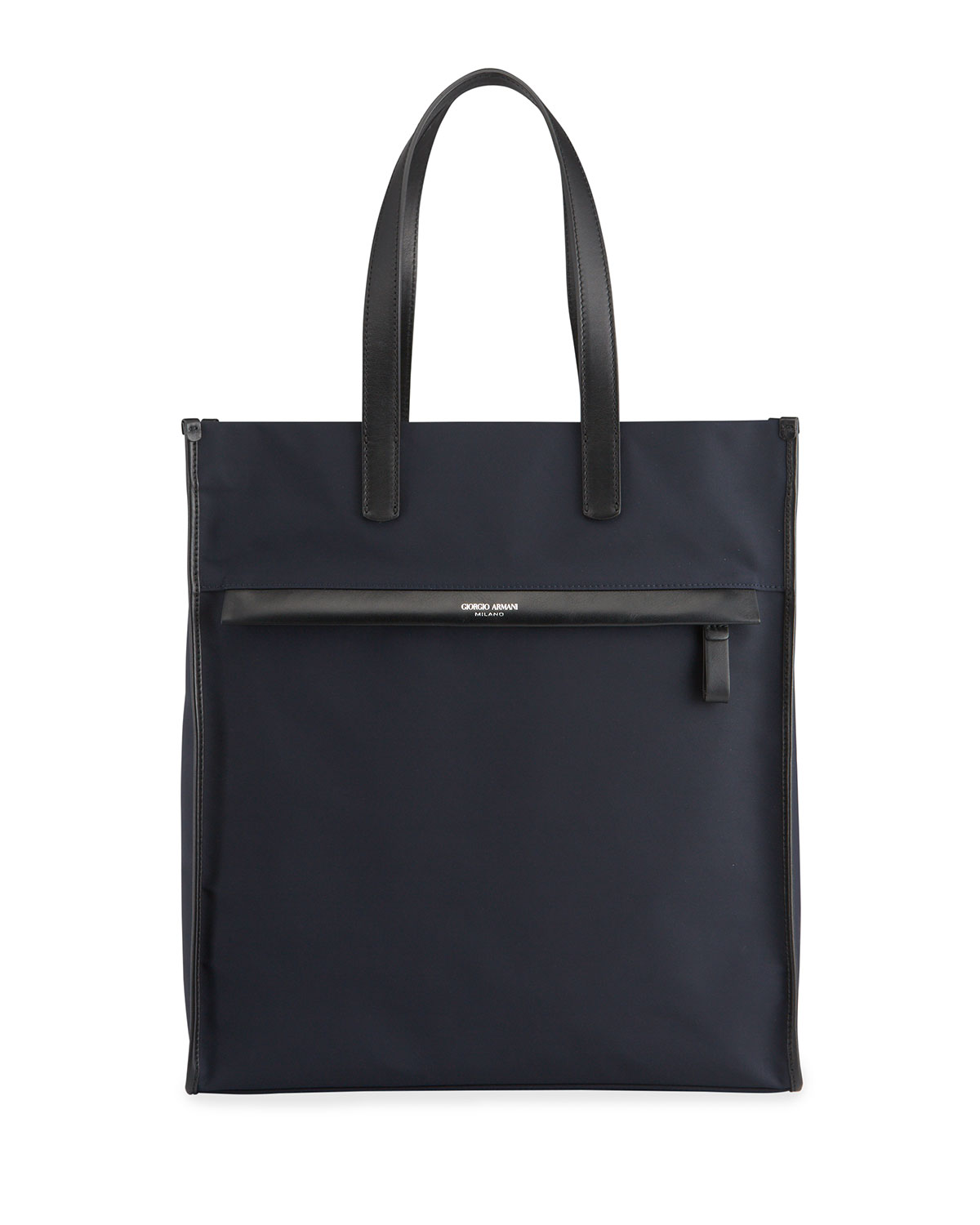 Giorgio Armani MEN'S WATERPROOF NYLON/LEATHER TOTE BAG