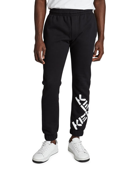 Kenzo Men's Sweatpants with Contrast Logo