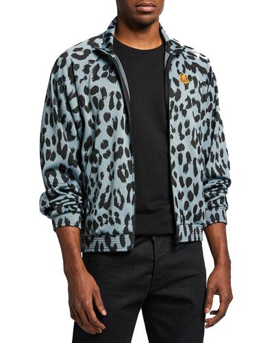 Men's Leopard Jacquard Track Jacket