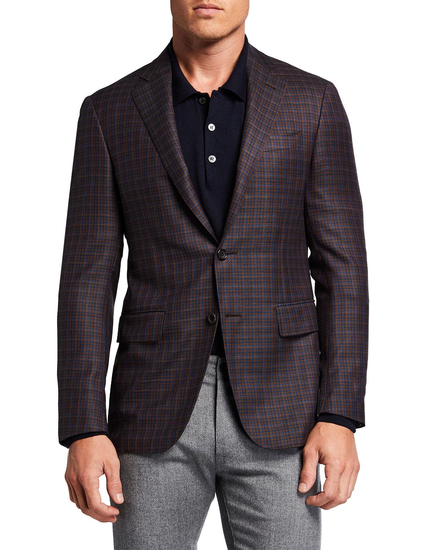Men's Check Wool Sport Jacket