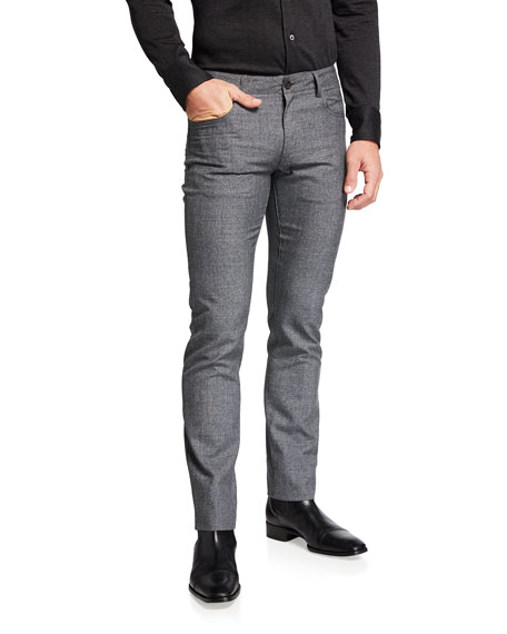 Canali Men's Slim Wool 5-Pocket Pants