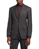 Canali Men's Impeccable Plaid Wool Two-Piece Suit