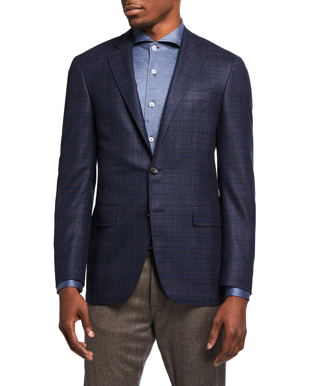 Men's Tonal Plaid Sport Jacket