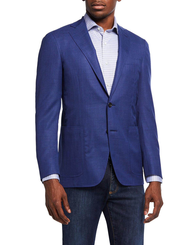 Men's 130s Wool Solid Blazer