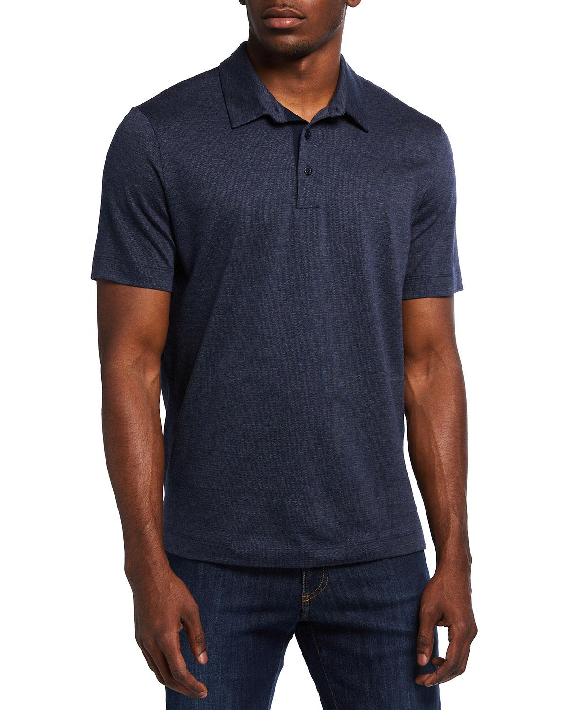 Men's Tonal Houndstooth Polo Shirt
