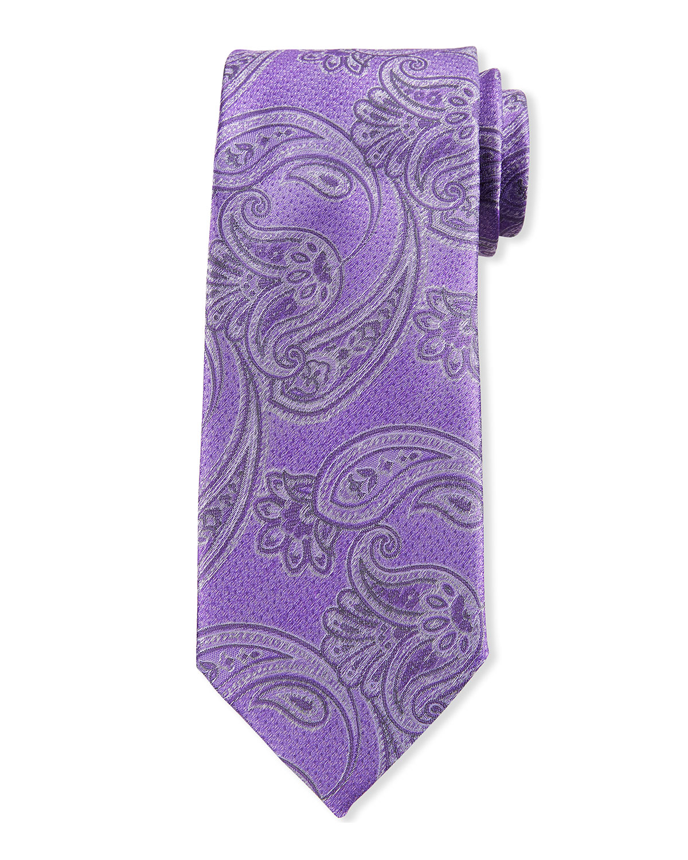 Men's Large Paisley Silk Tie