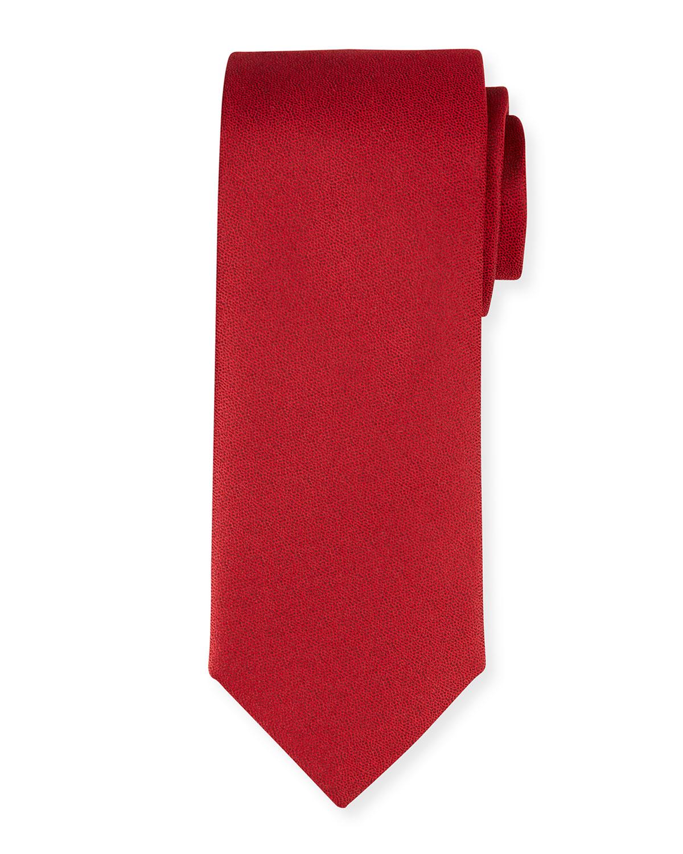 Men's Textured Solid Silk Tie