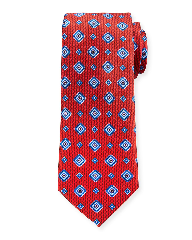 Men's Medium Medallions Silk Tie