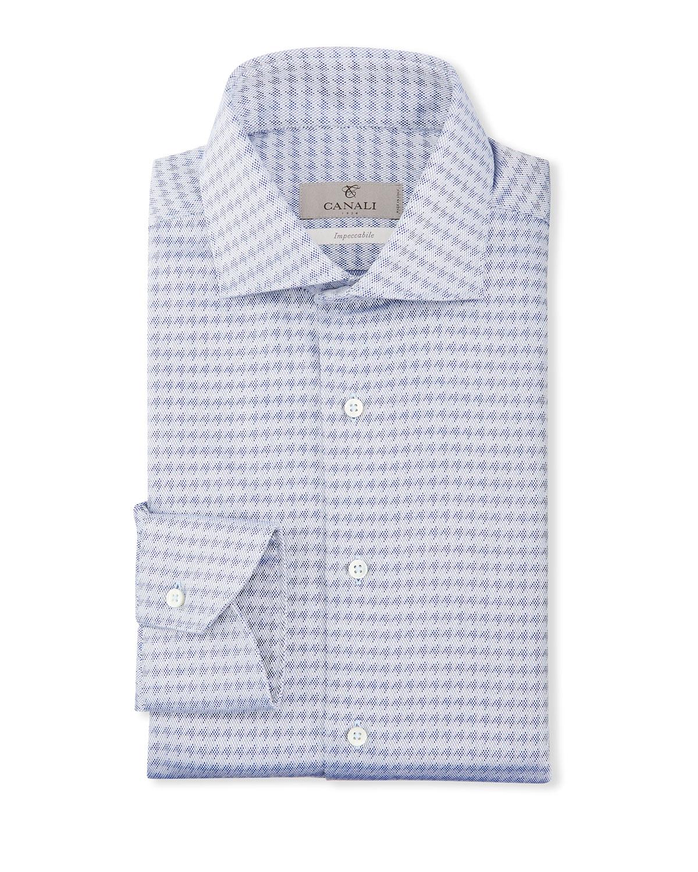 Men's Tonal Houndstooth Dress Shirt