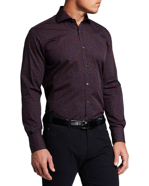 Men's Mixed Print Sport Shirt