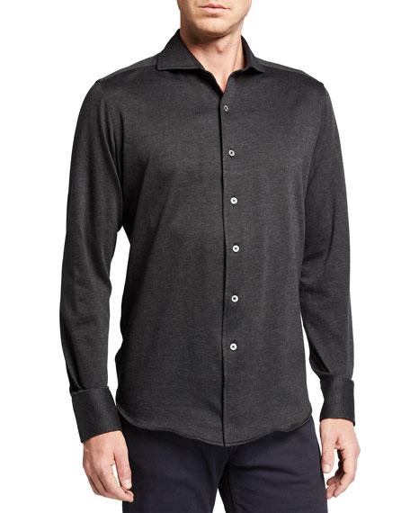 Canali Men's Herringbone Sport Shirt
