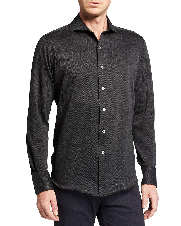 Men's Herringbone Sport Shirt