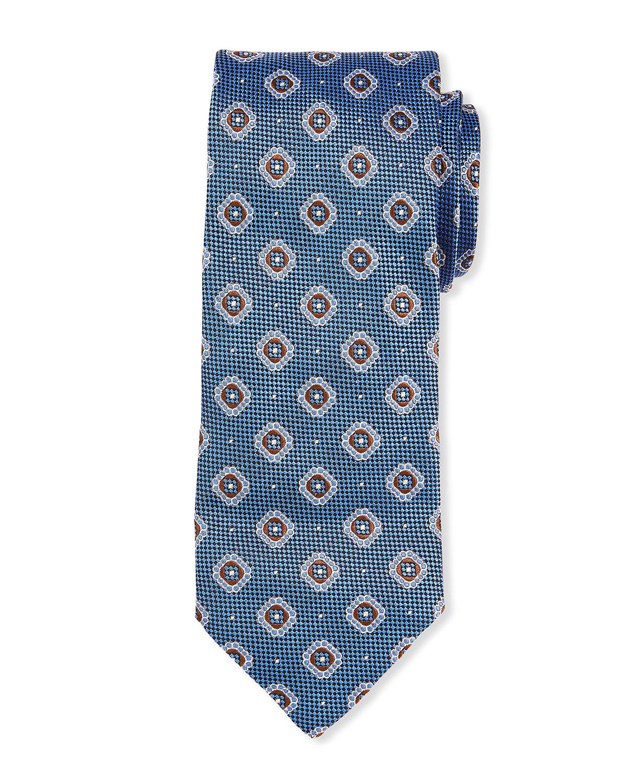 Men's Pebbled Medallion Silk Tie