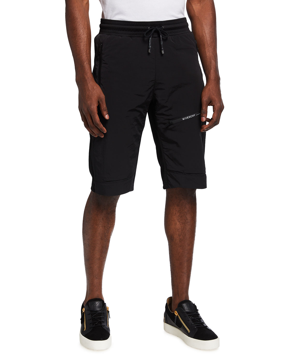 Givenchy MEN'S KNEE-LENGTH ATHLETIC SHORTS
