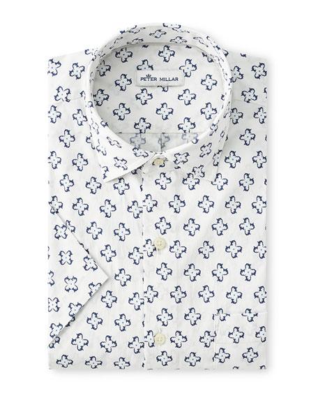 Peter Millar Men's Seaside Printed Sport Shirt