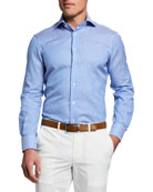Atelier Munro Men's Striped Twill Sport Shirt