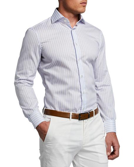 Atelier Munro Men's Striped Cotton Sport Shirt