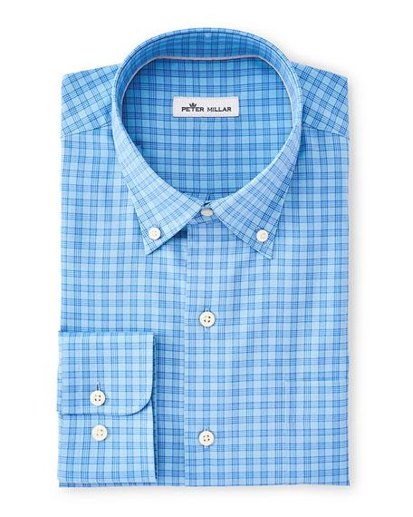Peter Millar Men's Crown Soft Stretch Plaid Dress Shirt