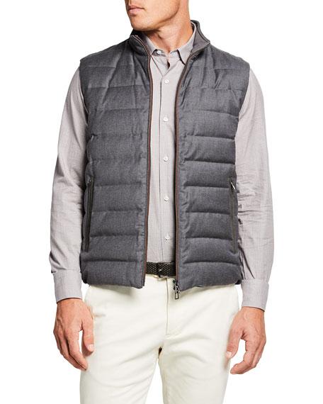 Loro Piana Men's Gateway Soft Plume Wool/Silk Flannel Vest