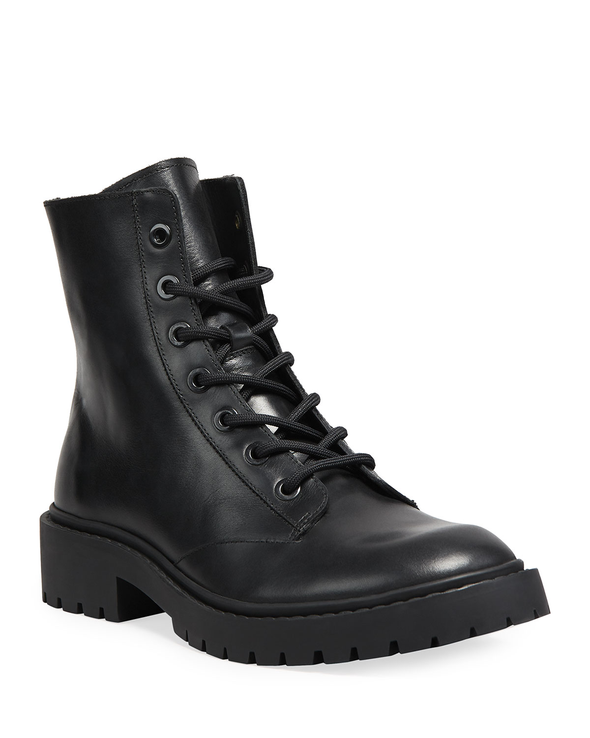 Kenzo MEN'S PIKE LEATHER LACE-UP BOOTS