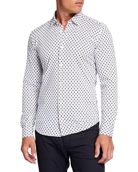 BOSS Men's Fancy-Print Sport Shirt
