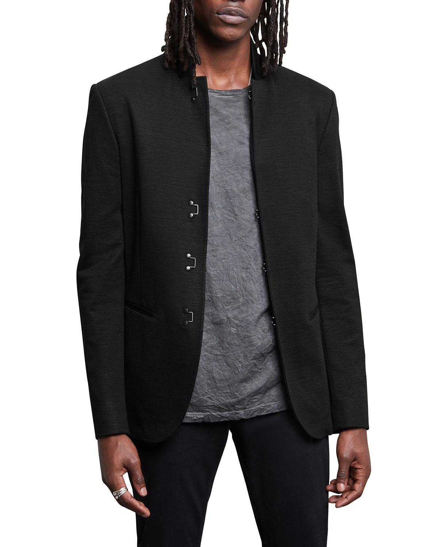 Men's Hook-and-Bar Slim-Fit Jacket