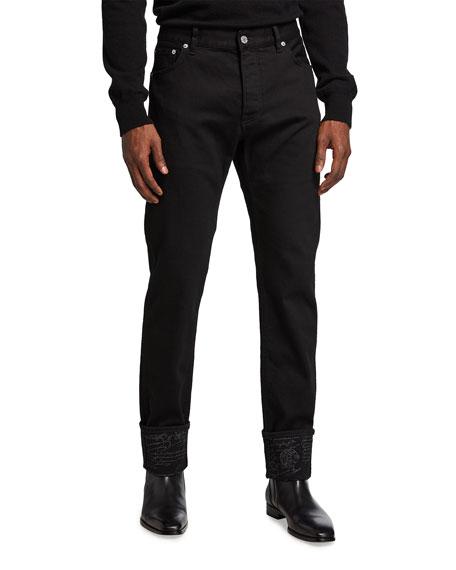 Berluti Men's Scritto Dark-Wash Jeans