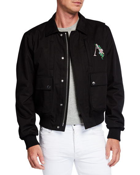 Amiri Men's Floral Logo 4-Pocket Jacket