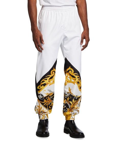 Versace Men's Baroque Nylon Jogger Pants