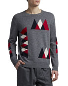 Moncler Men's Wool-Cashmere Mountain Peak Sweater