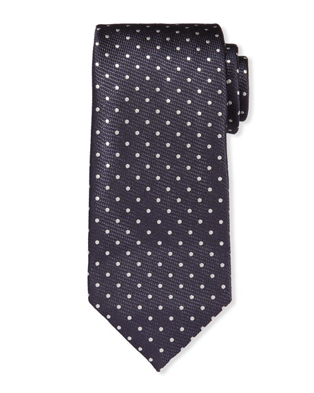 TOM FORD Men's Mulberry Silk Polka Dot Tie